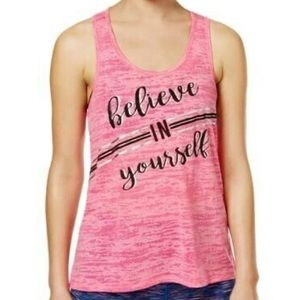 Ideology Believe in Yourself Athletic Pink TankTop